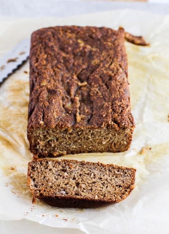 Paleo Banana Coconut Bread - gluten-free, dairy-free, naturally sweetened