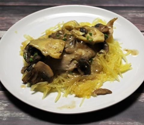 Another Whole30 recipe posted! This Creamy Chicken with Artichokes andhellip