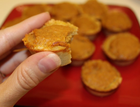 Mini Two-Bite Gluten-free Pumpkin Pies
