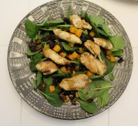Chicken and Butternut Squash Salad with Honey-Balsamic Vinaigrette - the flavors of butternut squash, cranberries, toasted pecans, chicken, and a homemade honey dressing combine to make this delicious, healthy salad!