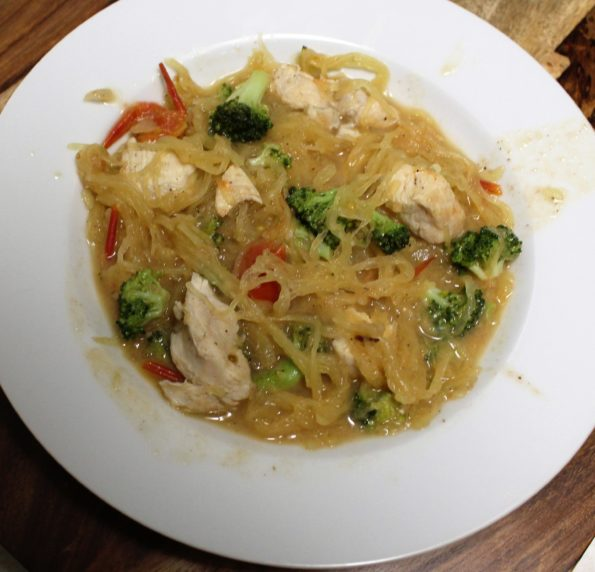"Paleo Chicken & Broccoli ""Spaghetti"" - a yummy, healthy paleo meal"