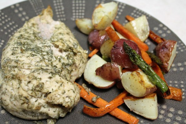 One-pan Dill Chicken & Veggies - a simple, tasty, easy paleo meal!