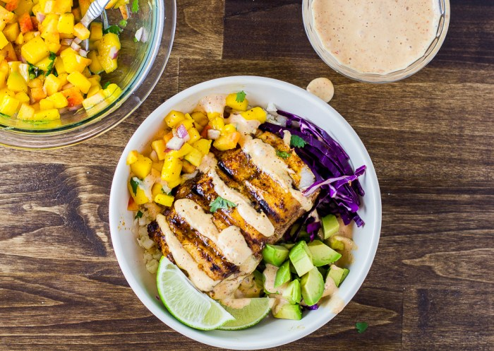 Grilled Mahi Mahi Tacos with Peach Mango Salsa - a flavorful paleo and whole 30 summer meal!