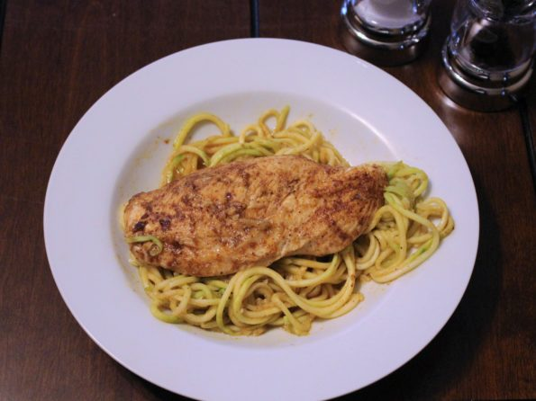 "Spicy Chicken and ""Zoodles"""