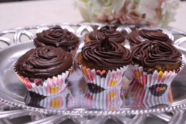 Paleo Chocolate Frosted Cinnamon Cupcakes