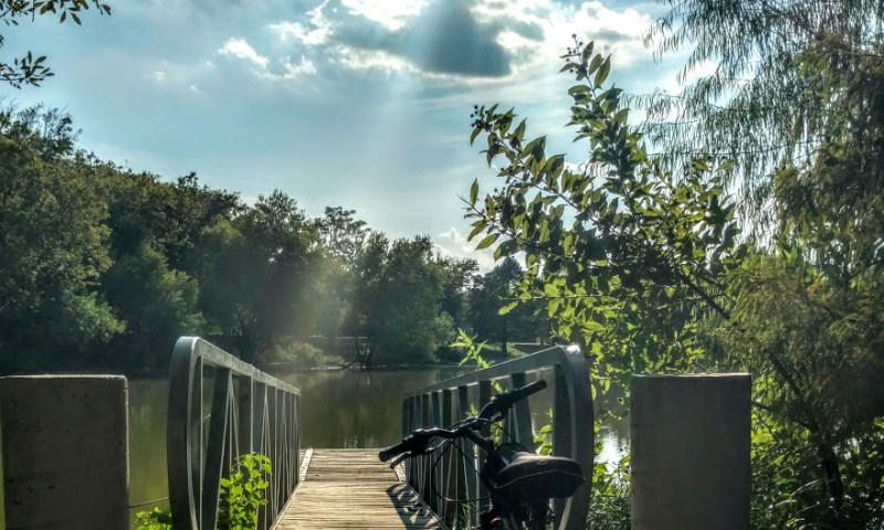 Biking at Mills Pond