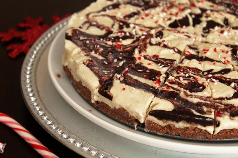"Paleo White Chocolate Peppermint ""Cheesecake"" - A delicious dairy-free, gluten-free option for the holidays!"