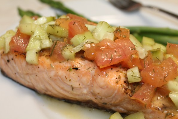 Grilled Tilapia with Cucumber-Dill Relish - Whole30, Paleo