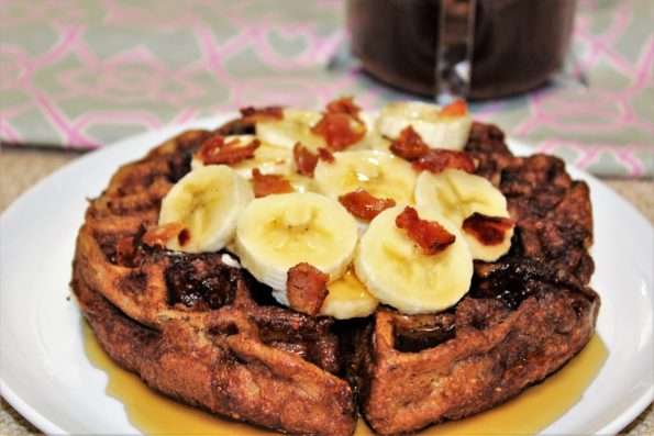 Paleo Elvis Waffles - made with almond butter, bacon and banana for a delicious gluten-free breakfast!