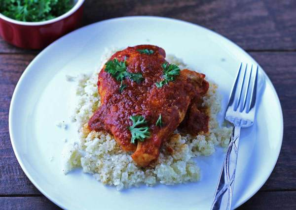 Tomato Balsamic Chicken Breasts - a simple, flavorful paleo meal