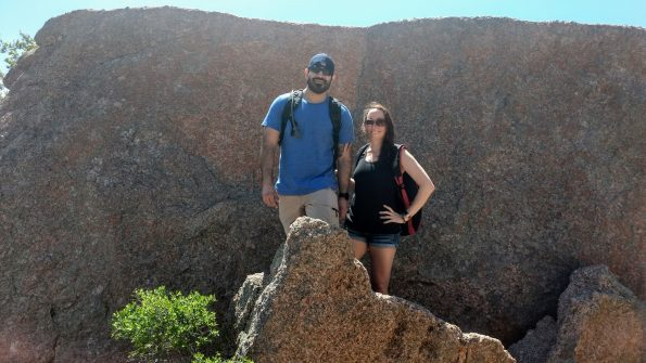 Posing at Enchanted Rock