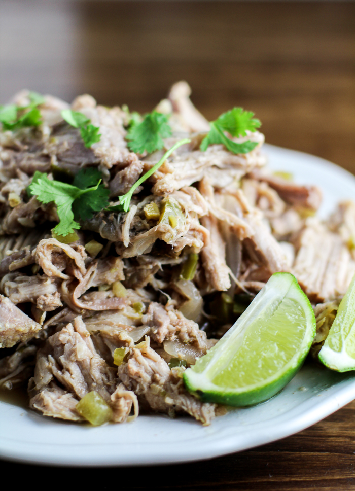 Slow Cooker Green Chile Pork Carnitas