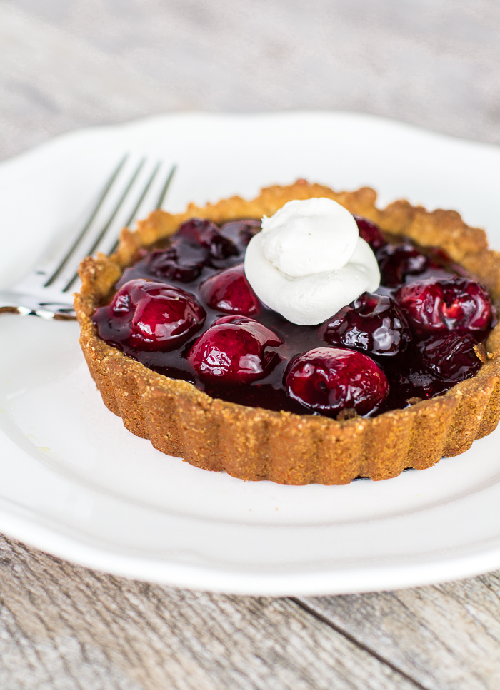 Paleo Cherry Tarts with Coconut Whipped Cream
