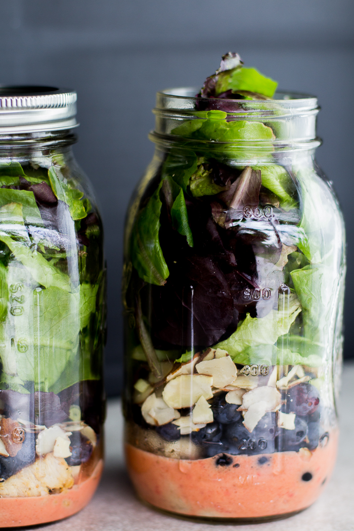 Antioxidant Chicken Salad in a Jar - Make healthy meal planning easy!