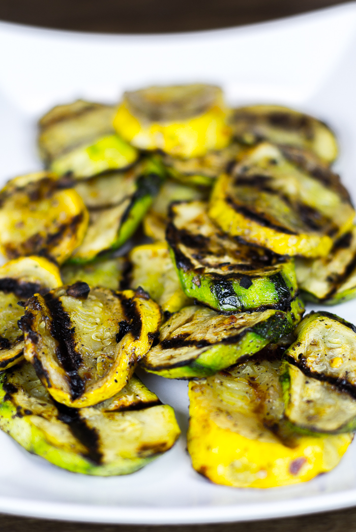 Spicy Grilled Summer Squash