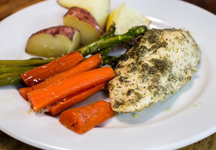 Paleo One Pan Dill Chicken and Veggies