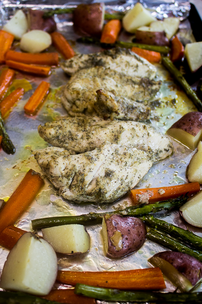 One Pan Dill Chicken and Veggies