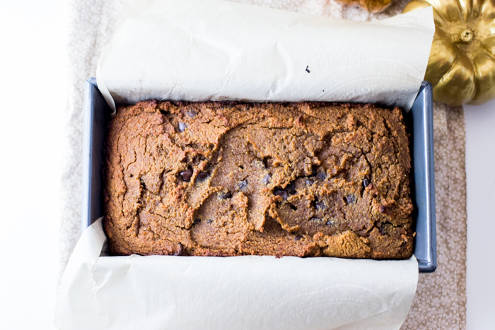 Paleo Chocolate Chip Pumpkin Bread