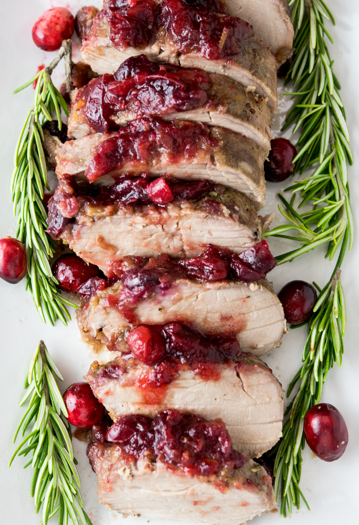 Slow Cooker Cranberry Rosemary Pork Tenderloin