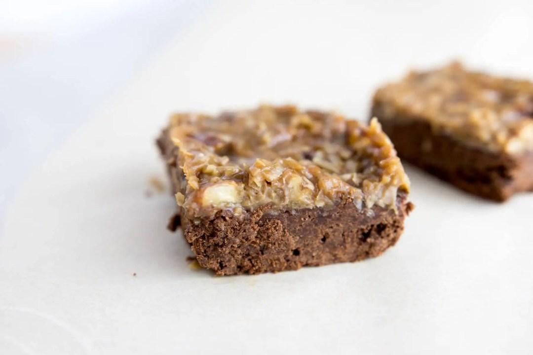 Fudgy Paleo German Chocolate Brownies