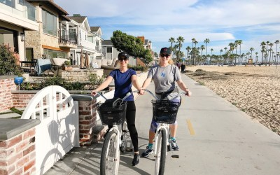 Kid-free adventures + why Balboa Island, CA is the best place to ride beach cruisers
