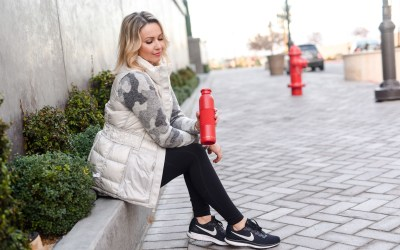 Winter outfits for active moms