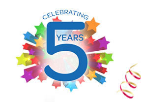 happy 5th anniversary to us fit is a