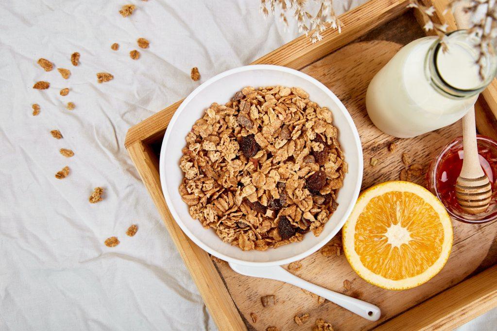 Breakfast in a bed