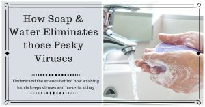 How Soap & Water kills those Pesky Viruses