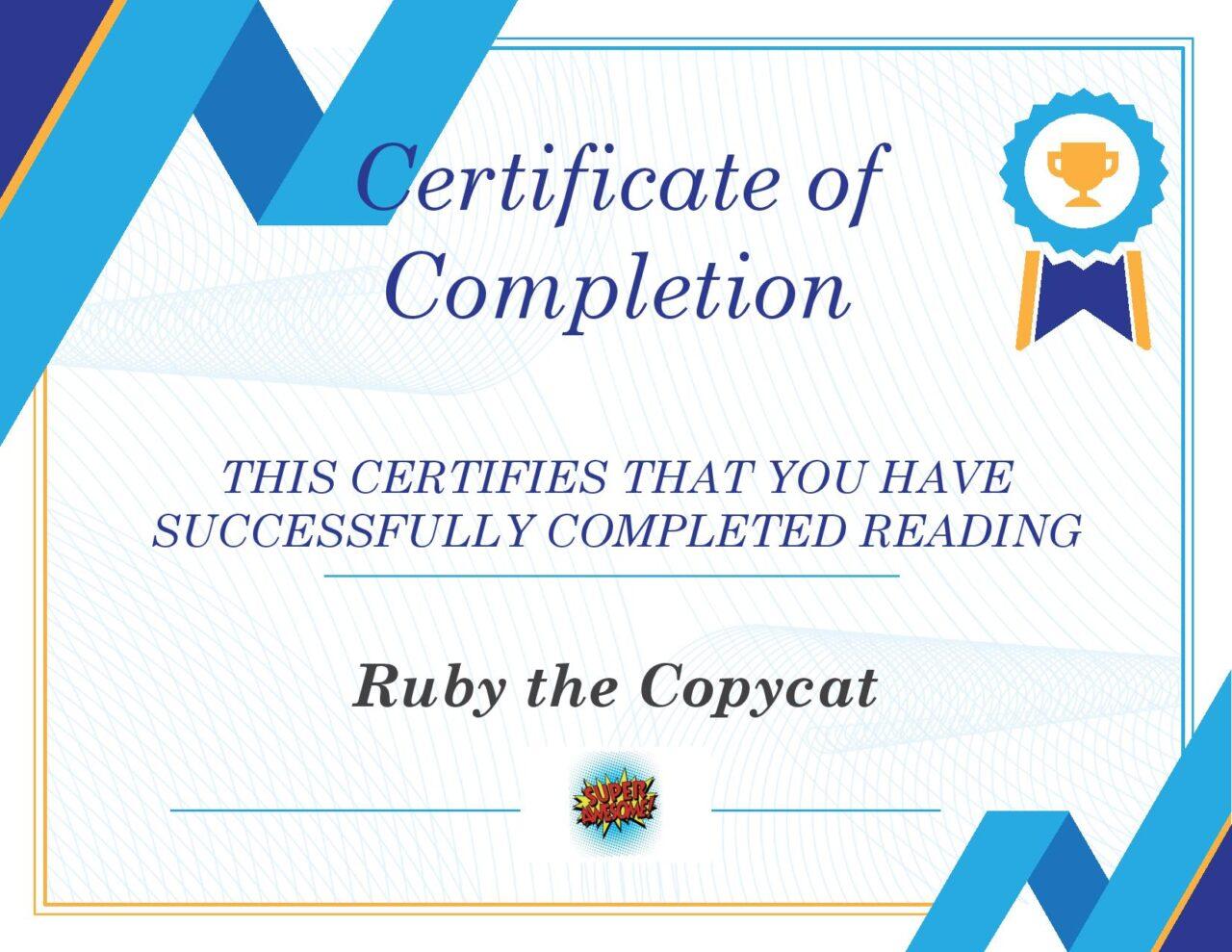Ruby The Copycat Fit Kids