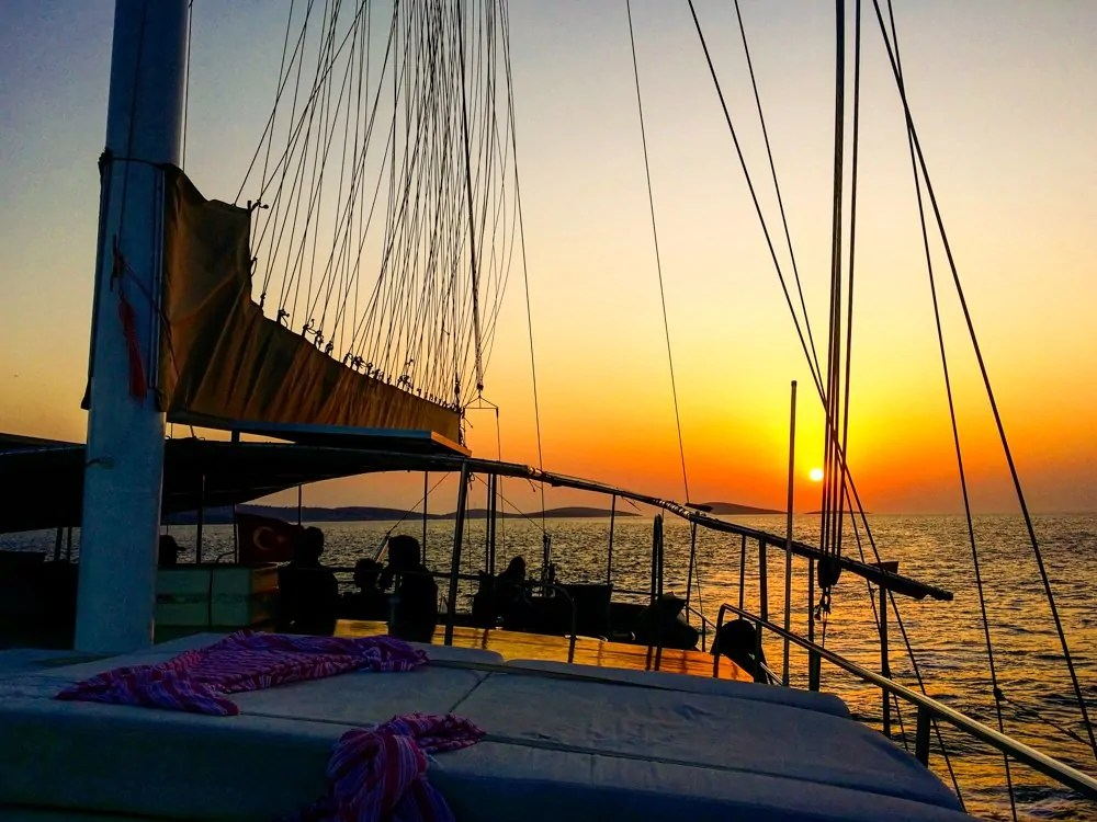 Waking on the top deck to Sunrise is one of the best things to do in Greece