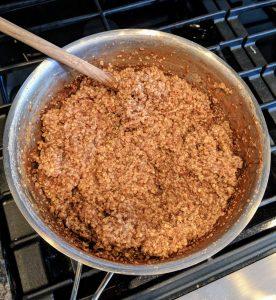Steel Cut Oatmeal with Hemp Hearts, Chia Seeds, Cinnamon, and Nutmeg