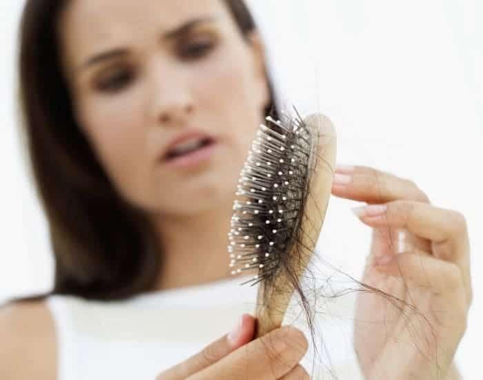 Women losing hair