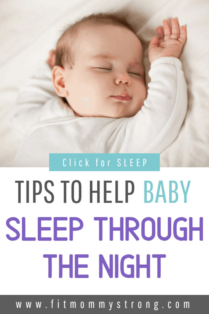 Tips to help baby sleep through the night