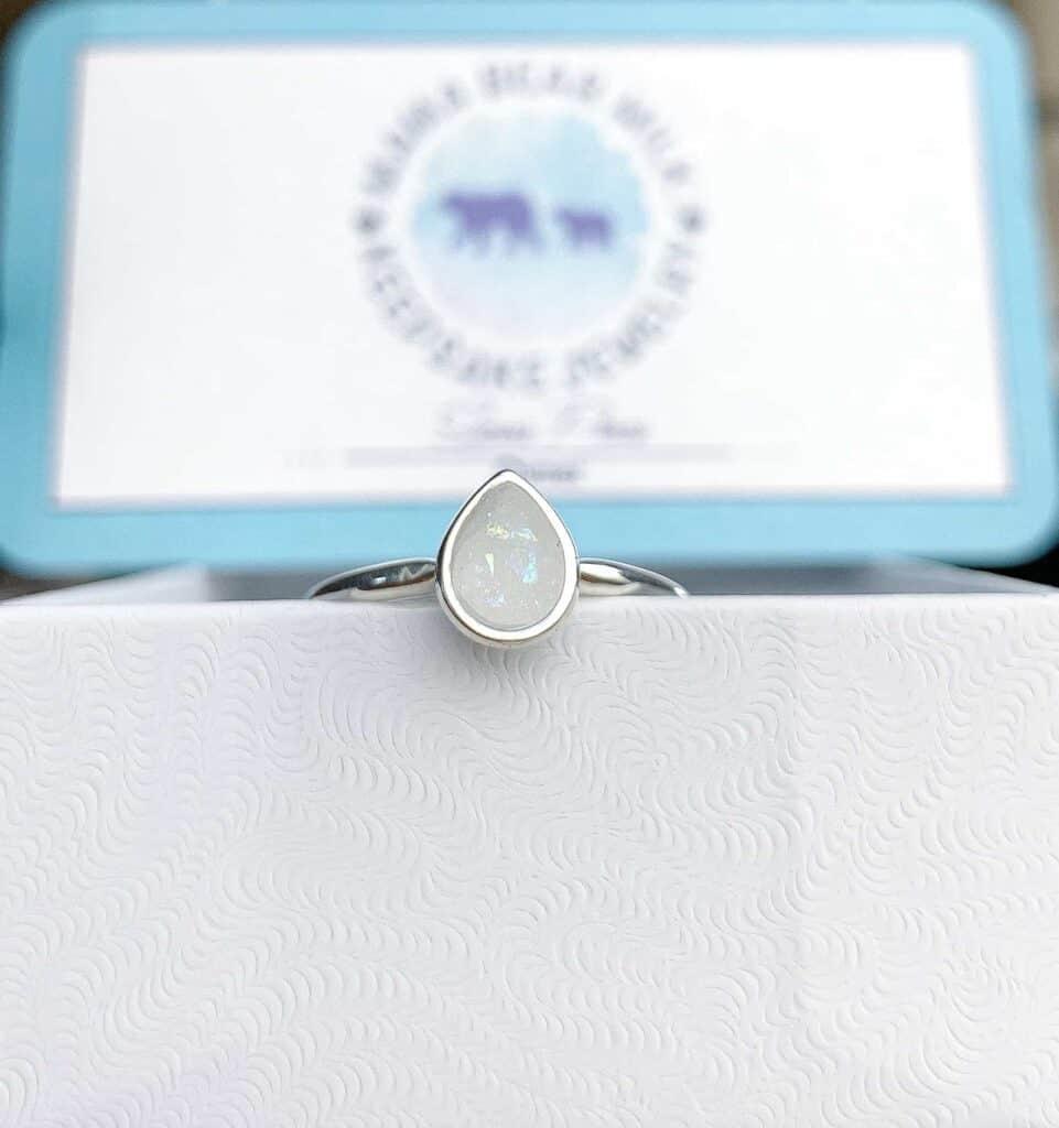 custom breastmilk ring