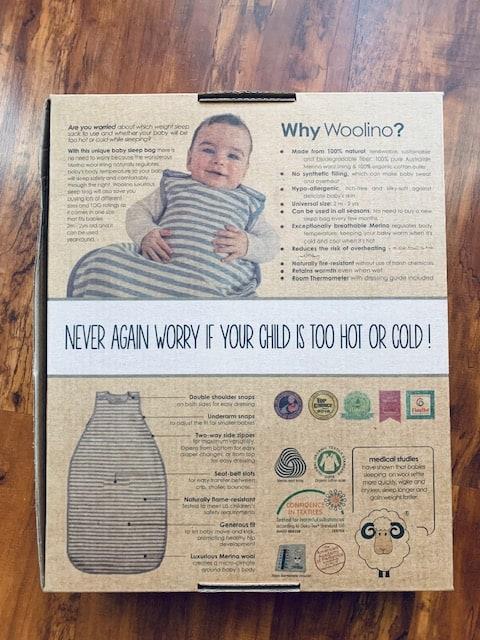 Woolino 4 Season Ultimate Sleep Bag Packaging
