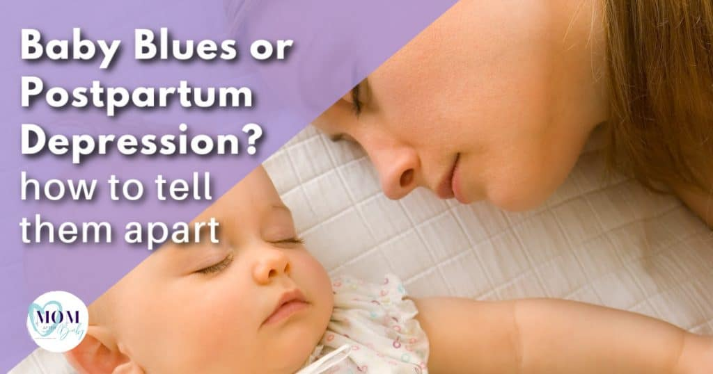 baby blues or postpartum depression - mom after baby