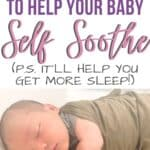 baby self soothe