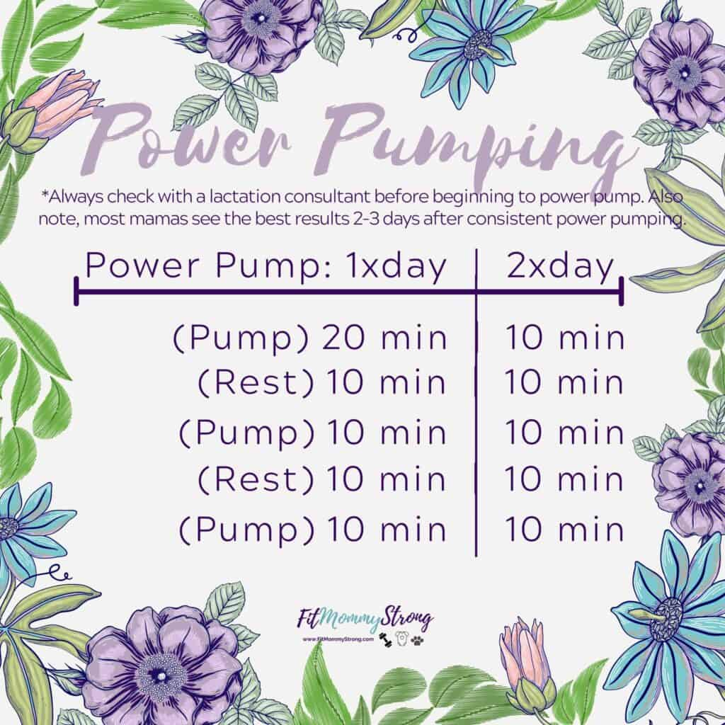 power pumping schedule