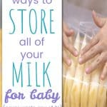 Proper ways to store your breast milk for baby