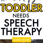 How to tell if your Toddler Needs Speech Therapy