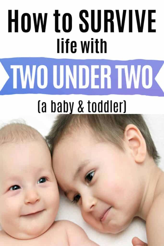 Tips to survive second baby with two under two