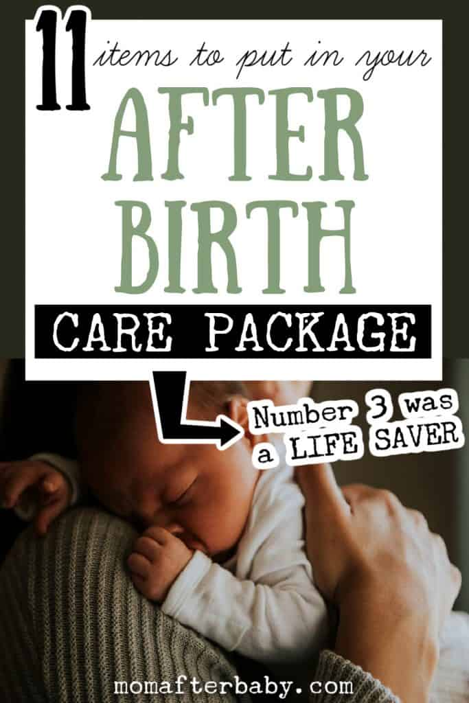 DIY After Birth Care Package - What to put inside