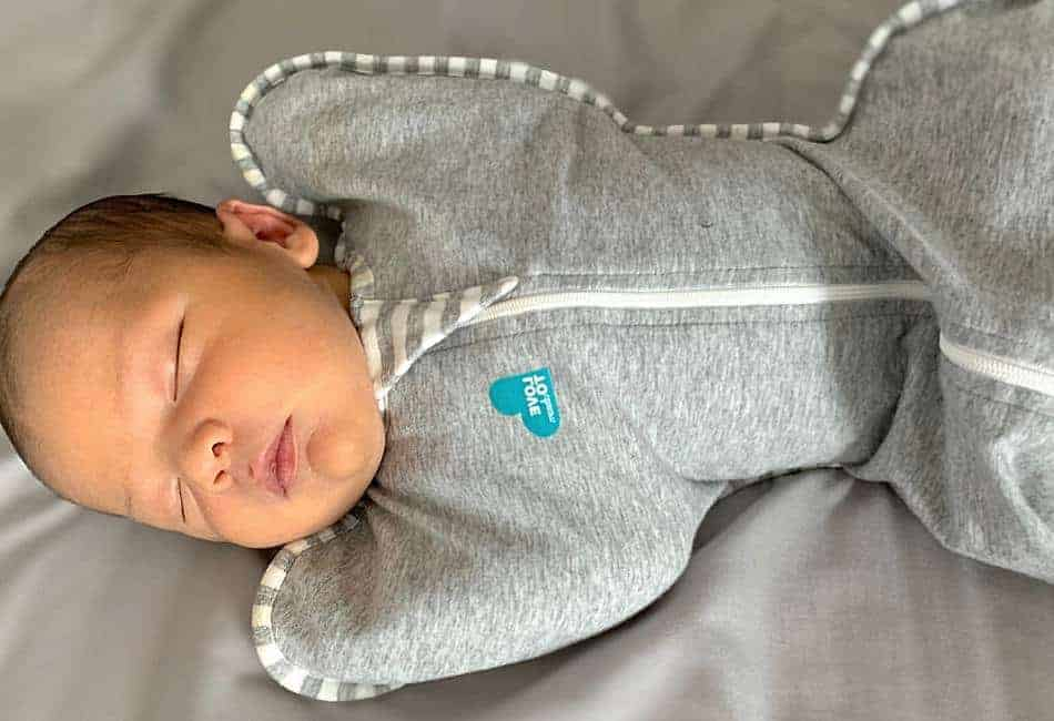 arms up swaddle