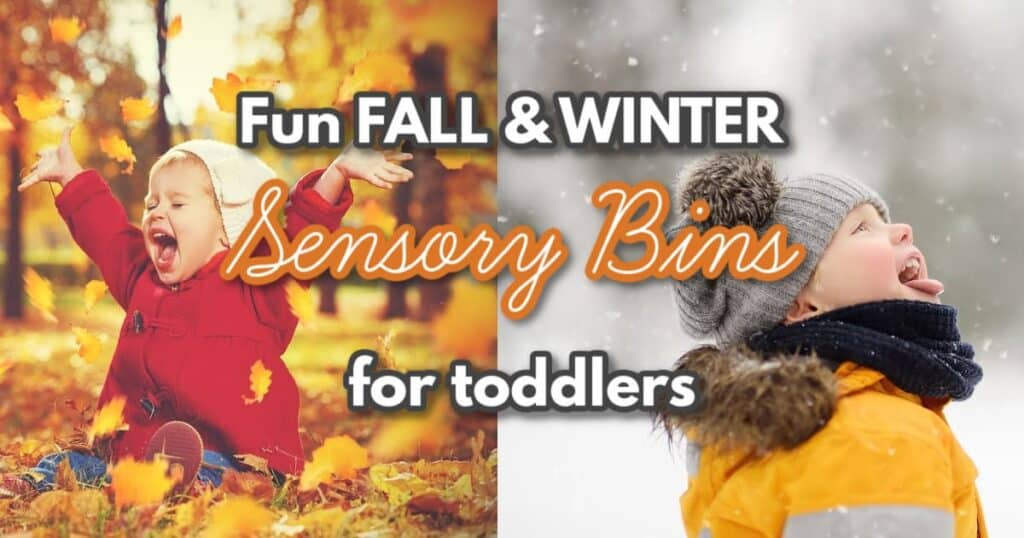 Fall Sensory Bins for Toddlers