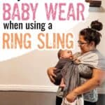 How to baby wear with a ring sling baby carrier