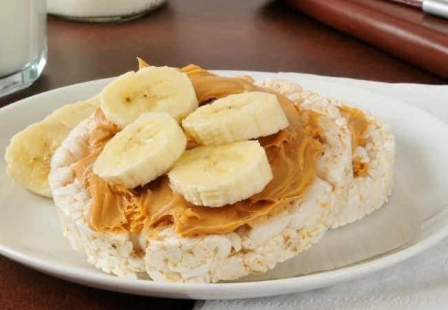 rice cake with banana