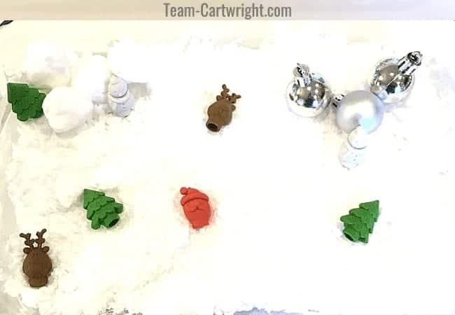 team cartwright snow sensory bin toddler