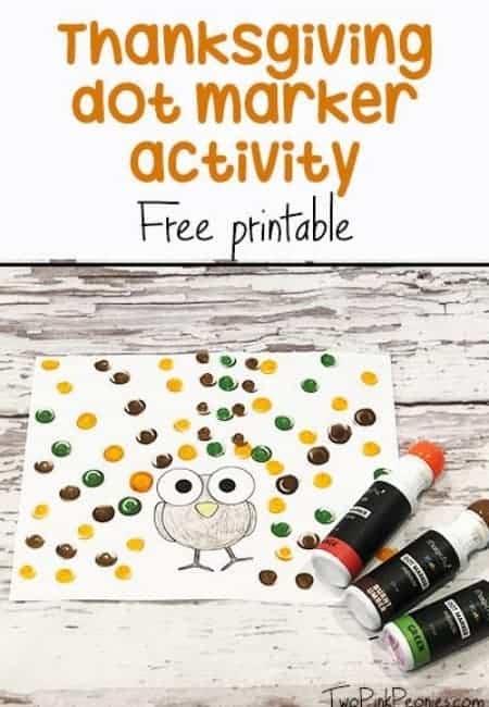 thanksgiving dot marker for toddlers