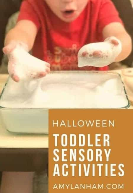 toddler halloween sensory bin